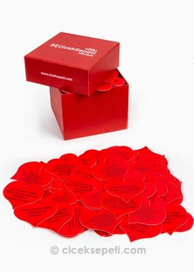 seni seviyorum cunku mesajli hediye kutusu hf3210