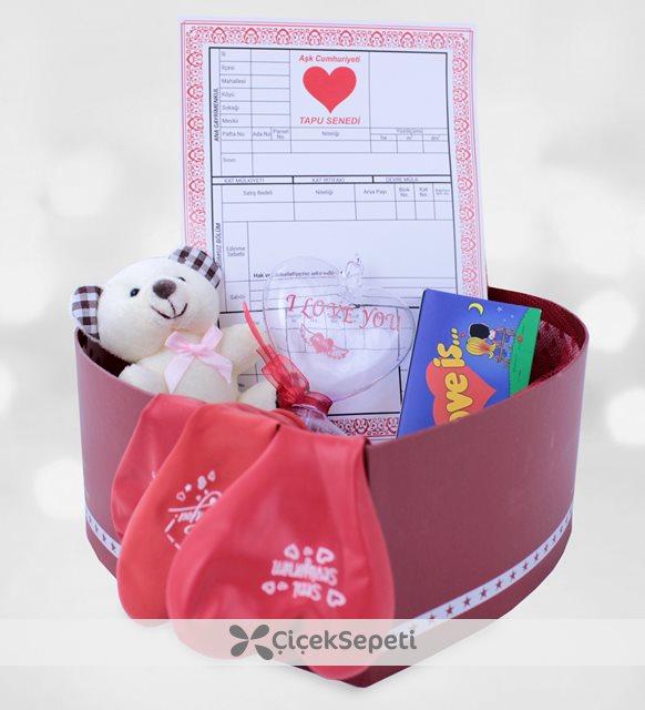 sevgiliye romantik kutu