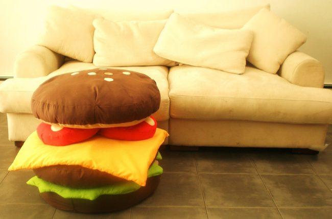hamburger yastık