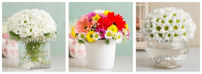 çiçek sepeti papatya
