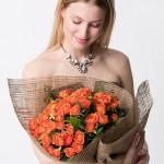 turuncu güller