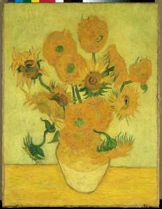 Fourteen sunflowers