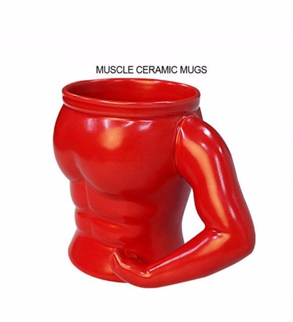 Kaslı adam tasarımlı kupa bardak