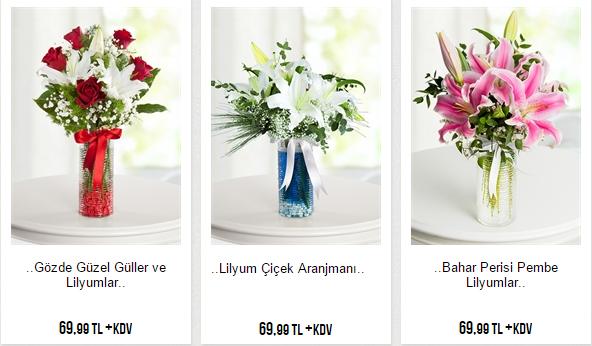 lilyumlar ve güller