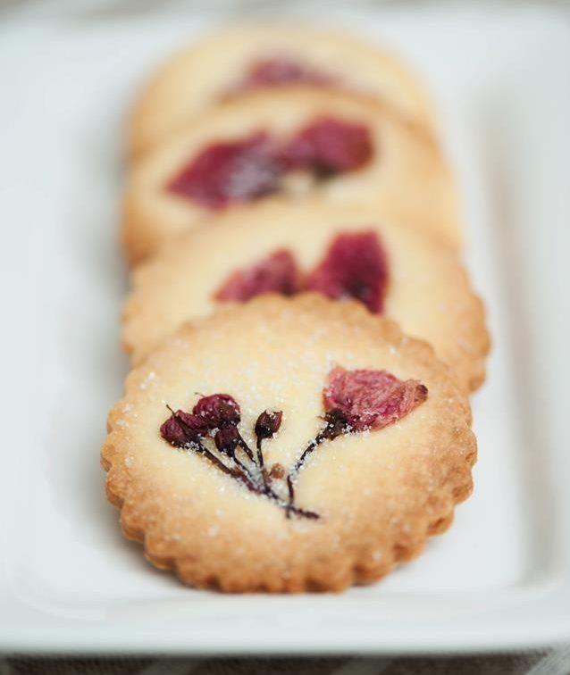 çiçekli kurabiye