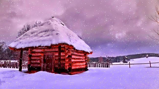 karda ev fotoğrafı