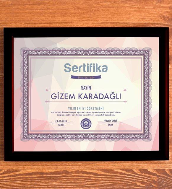 kişiye özel sertifika