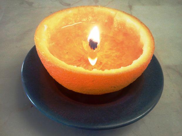 portakaldan mum yapmak