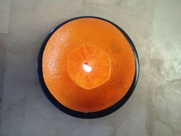 portakal ile mum yapımı