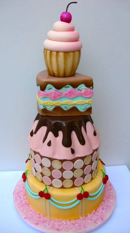 En Güzel Butik Pastalar- Şeker Hamurundan Pasta Örnekleri