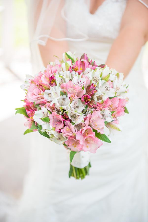 Alstroemeria düğün buketi