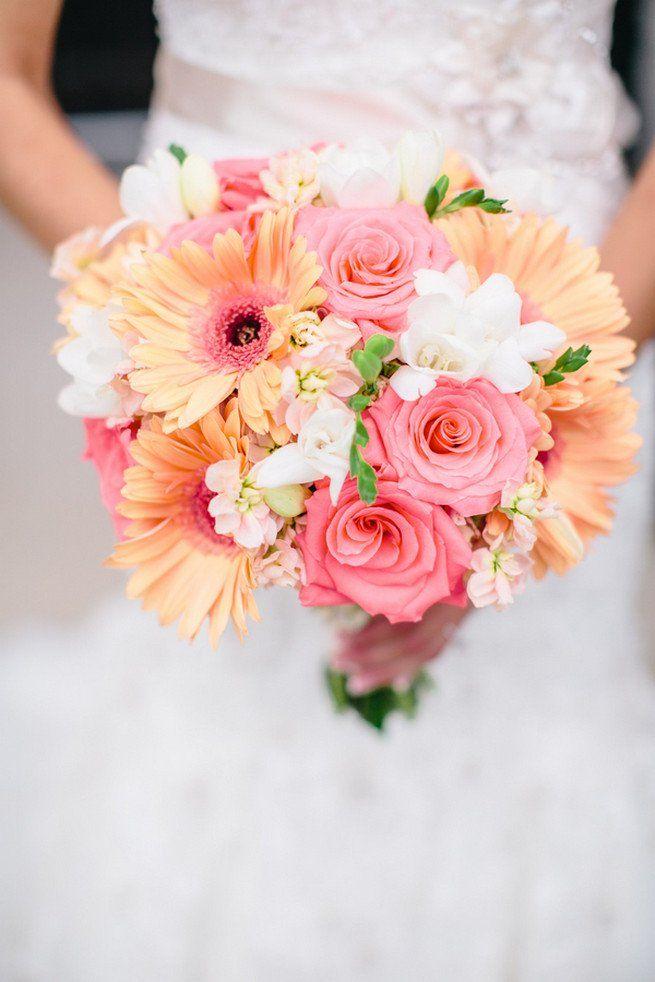 Pembe gerbera düğün çiçeği