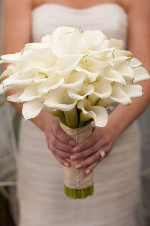 kala zambağı düğün buketi