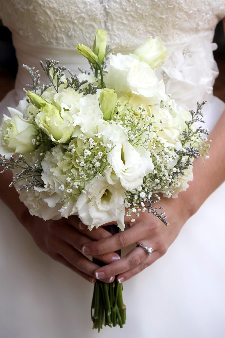 Orchid And Babys Breath Bouquet