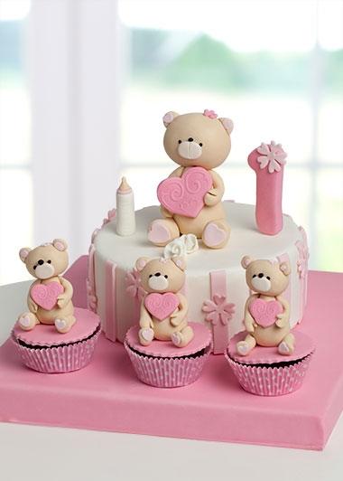 1 yas doğum günü pastası