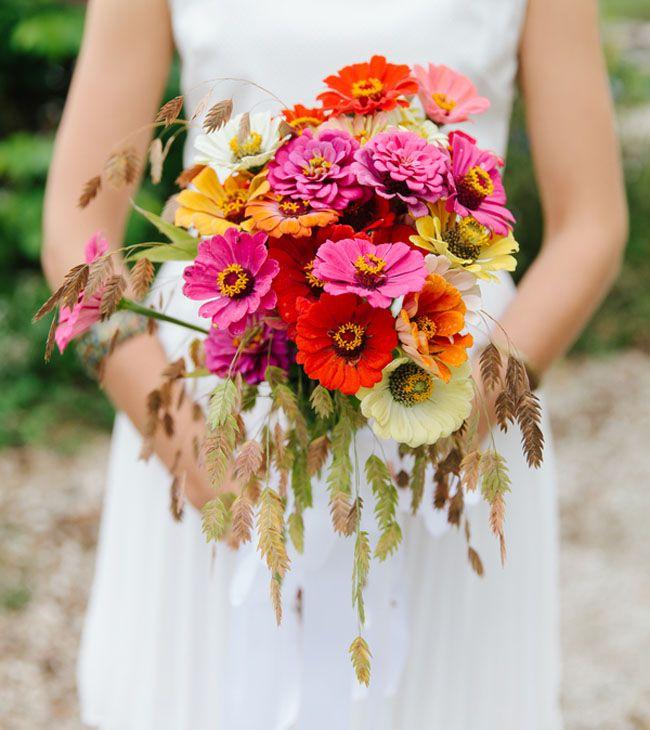 zinya çiçeği düğün buketi