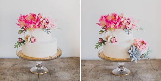 gerçek çiçekle pasta