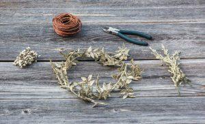 çiçek tacı yapımı