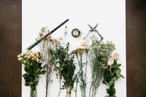 gerçek çiçeklerden taç
