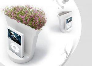 çiçeklere müzik dinletmek