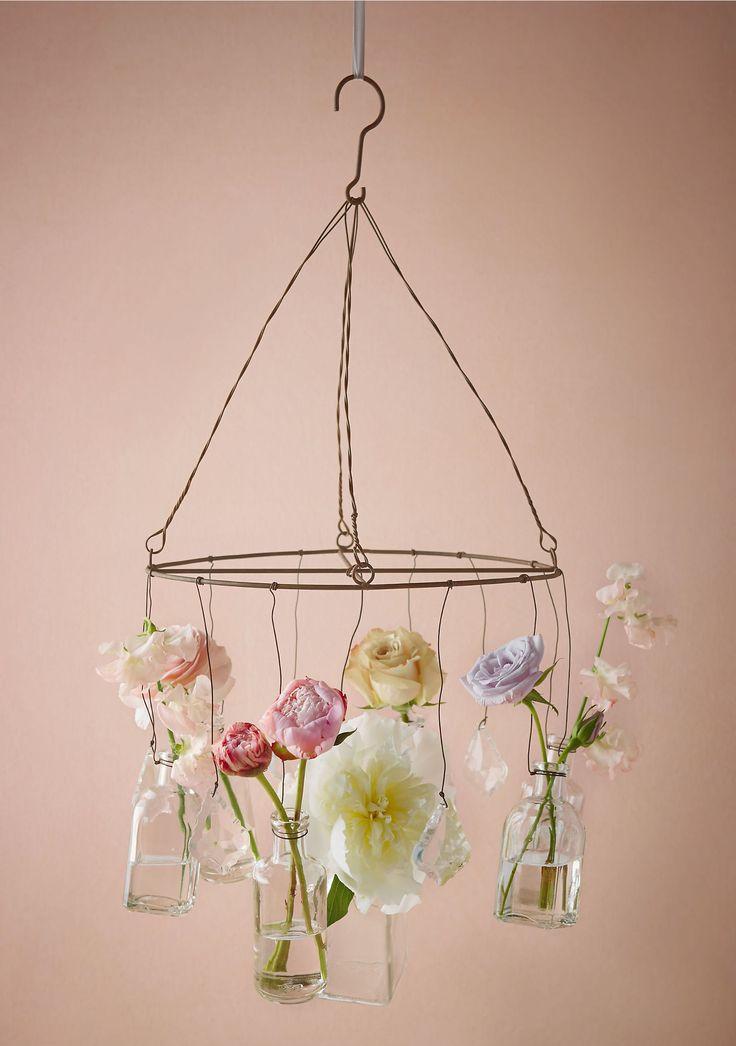 canlı çiçekle avize