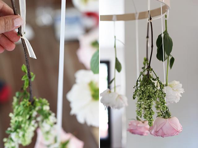 Çiçeklerle avize