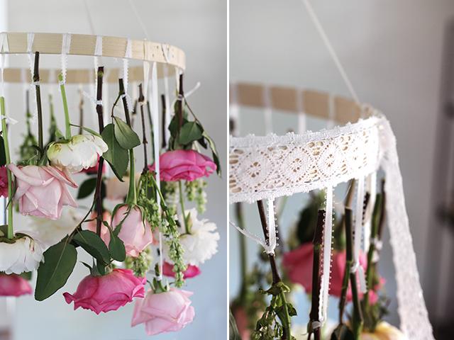 çiçekli avize