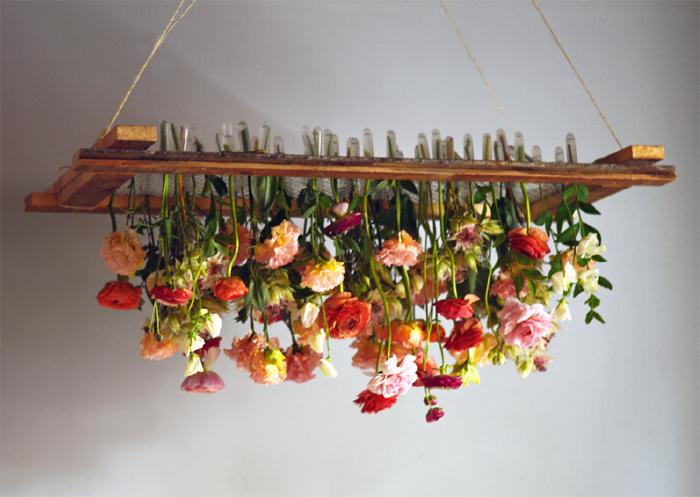 otantik çiçekli avize