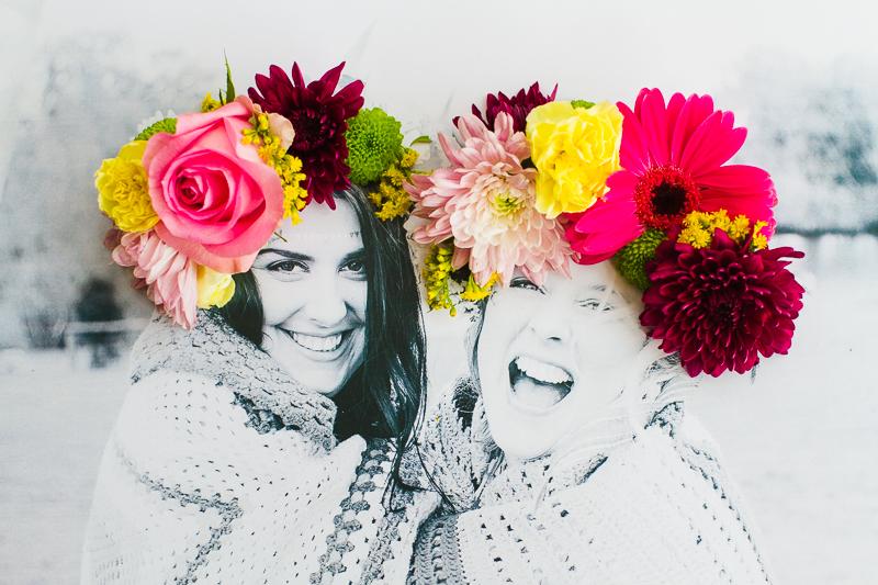 çiçeklerle filtre