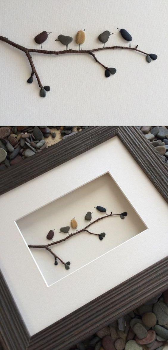 çerçeve içerisinde taş tablo