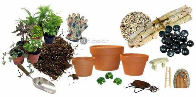 Minyatür bahçe malzemeleri
