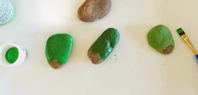 taşlarla kaktüs