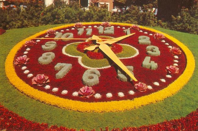 çiçeklerden saat