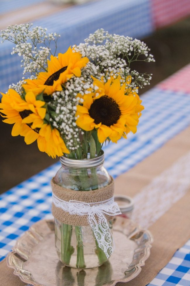 düğünde ayçiçeği kullanımı