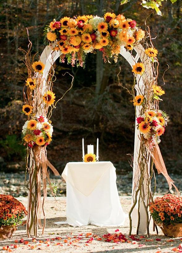 düğünde ayçiçeği nasıl kullanılır