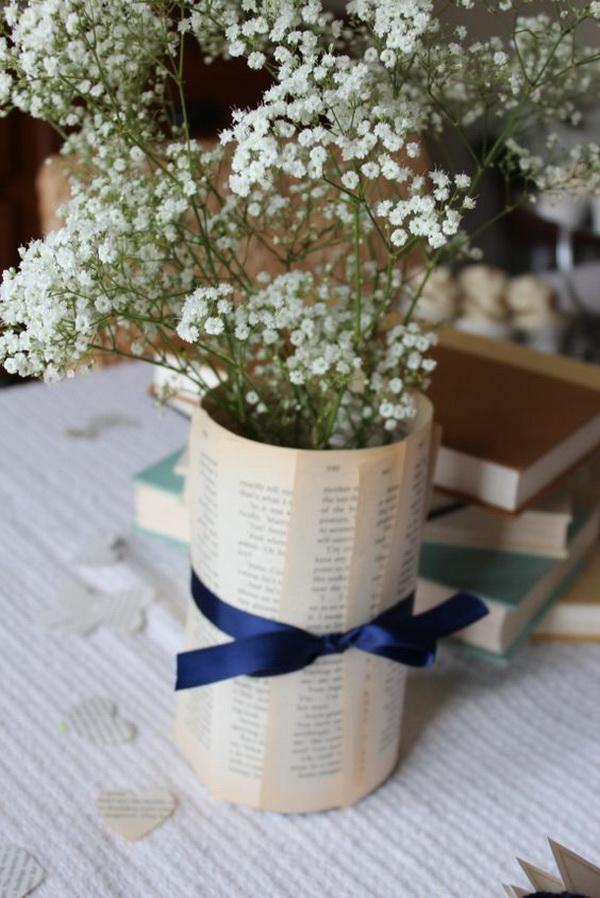 kitaplarla vazo kaplaması