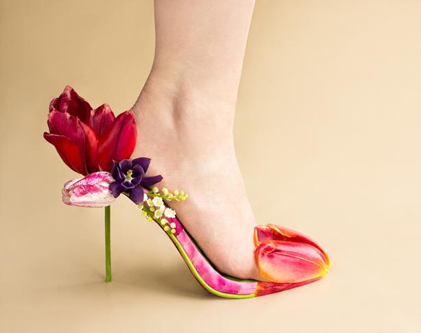 çiçek ayakkabıları