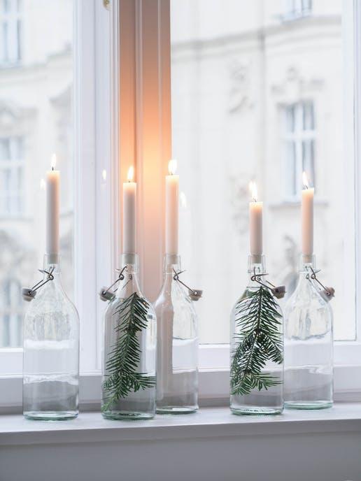 şişeler ile dekorasyon