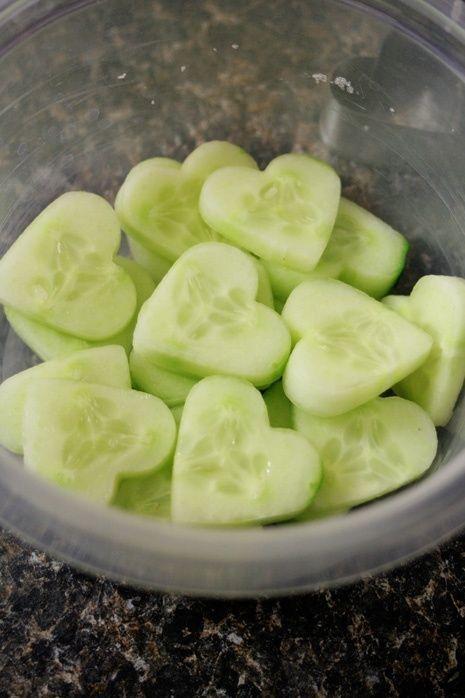 kalp şekilli salatalık