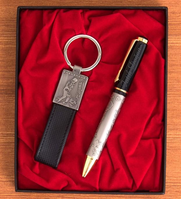 Kişiye Özel Atatürk İmzalı Kalem Anahtarlık Set