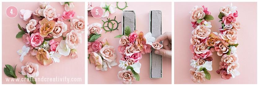 çiçeklerle harf yapmak
