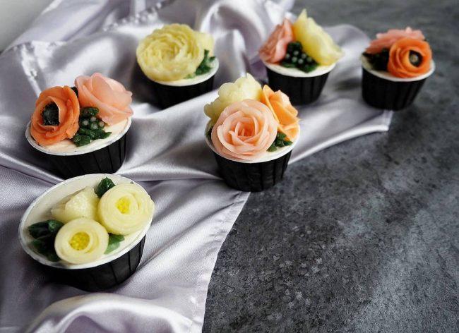 çiçekli kek