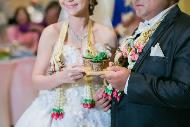 düğün için cupcake