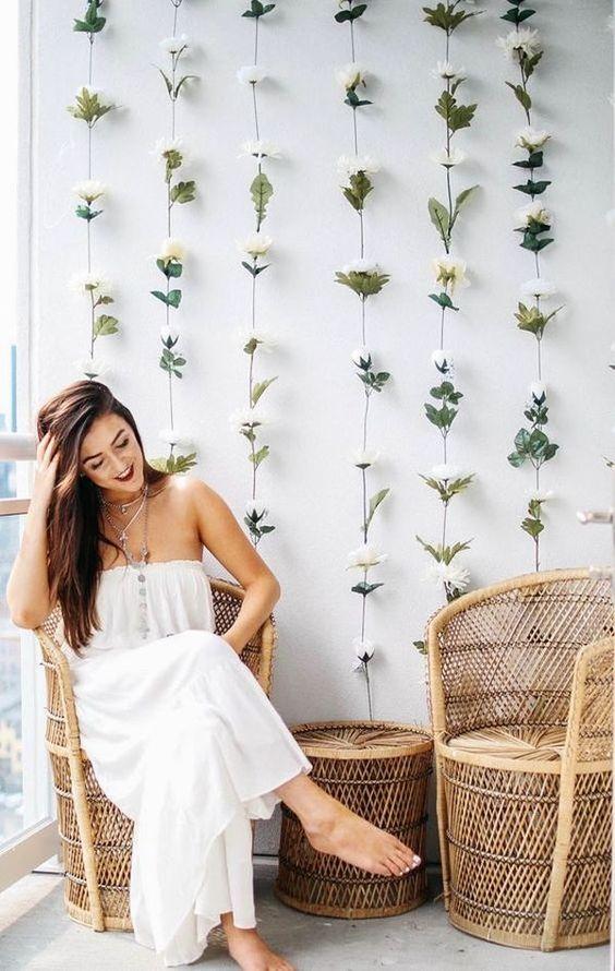 duvar çiçeklendirme