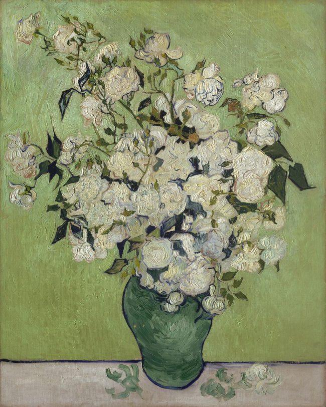 Vincent van Gogh - Still Life: Pink Roses in a Vase