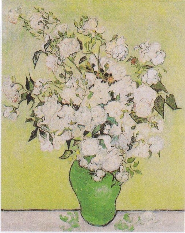 Vincent van Gogh - Still Life: Pink Roses