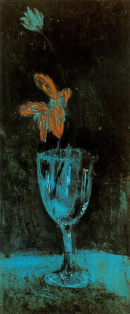 Pablo Picasso - A blue vase