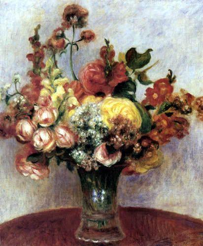 Pierre Auguste Renoir - Flowers in a Vase