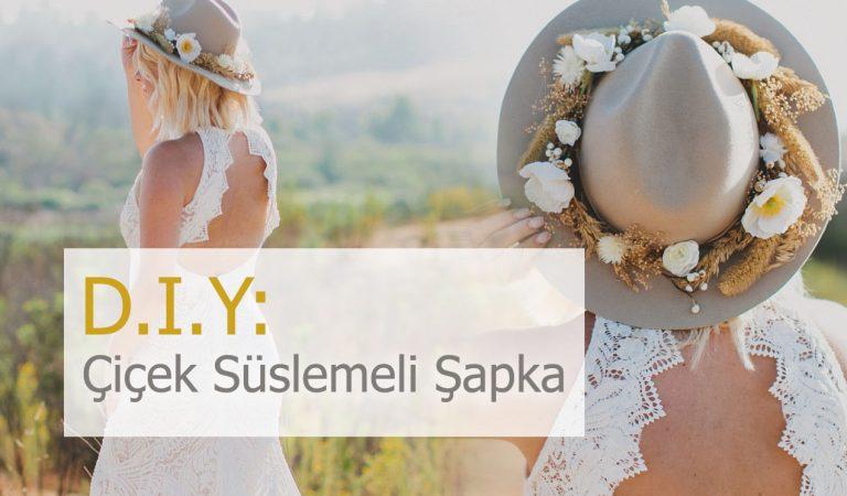 Kendin Yap: Dış Çekim Yaptıracak Gelinlere Özel Çiçek Süslemeli Şapkalar