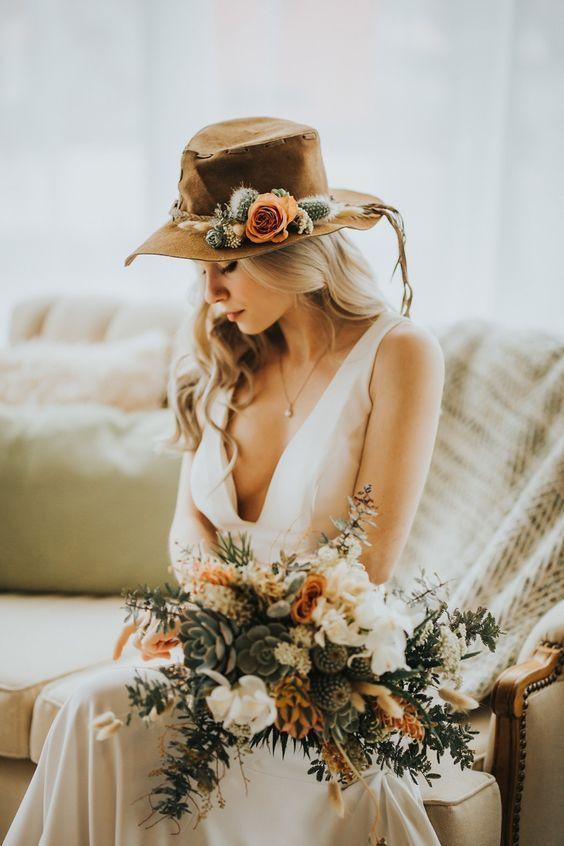 Çiçek Şapka Süslemesi